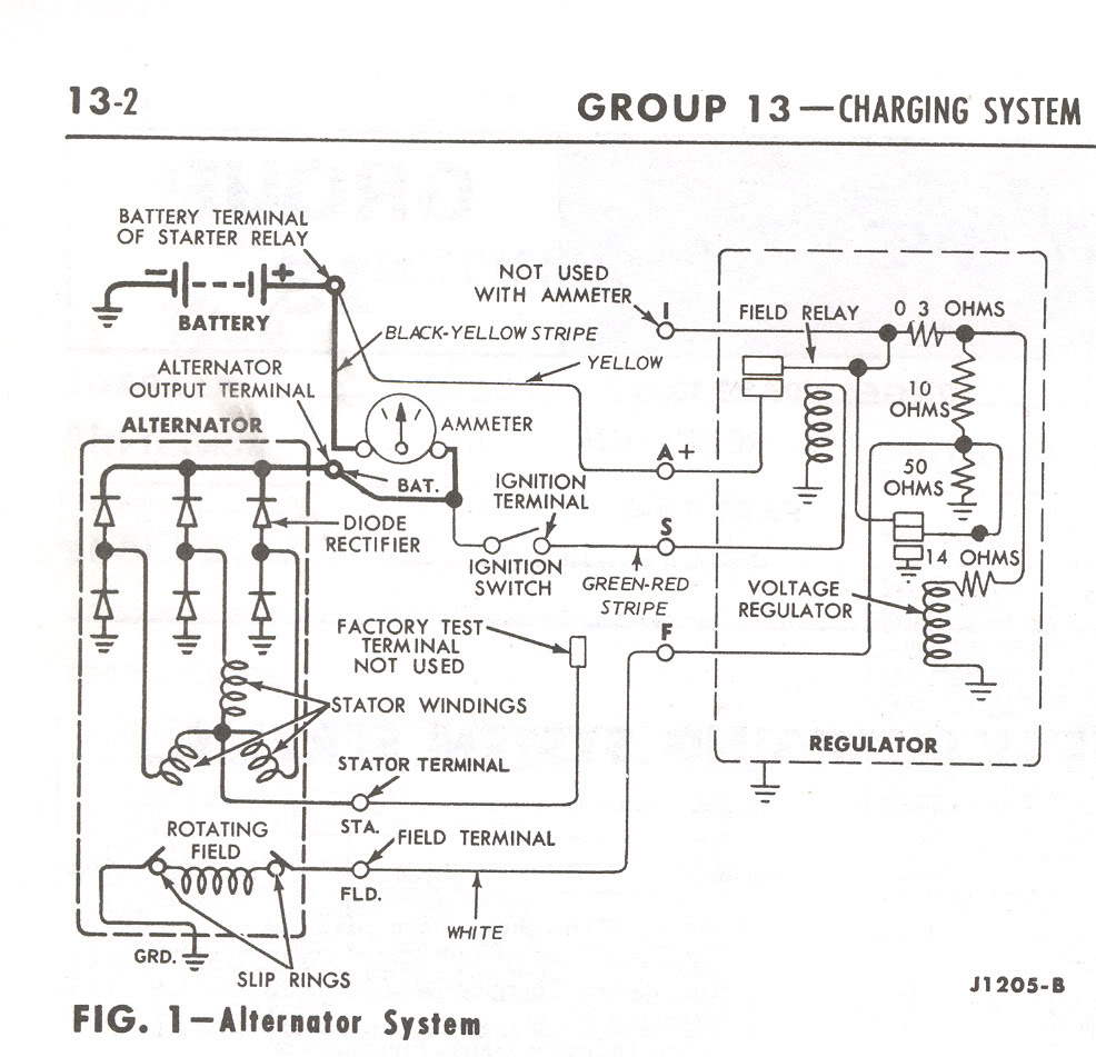 new guy here - 64 thunderbird - not charging - vintage ... 1997 ford thunderbird charging system wiring diagram