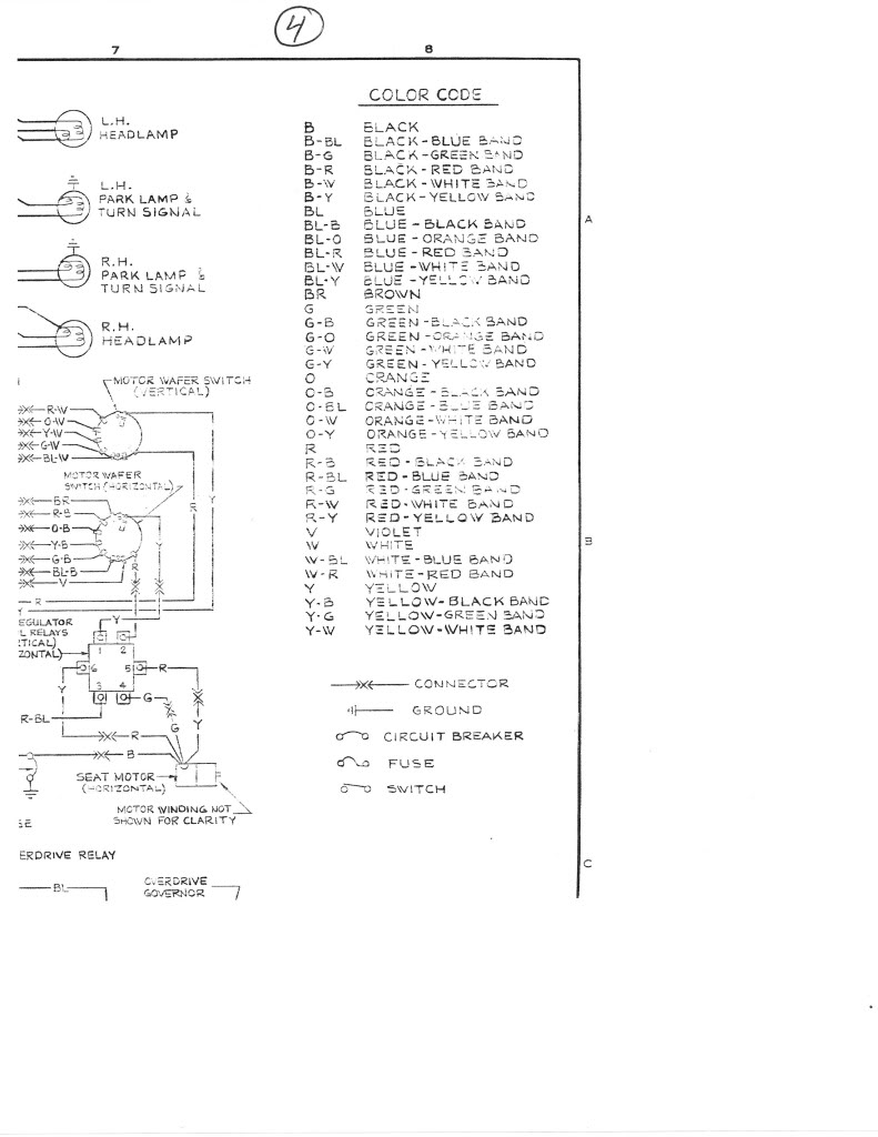 Purpose Of The Fuse On Headlight Switch Vintage Thunderbird Plug Headlamp Wire Wiring Repair Block Connector Ebay Looked At Your Schematic But I Cannot Make Anything Out Its Too Small And When Enlarge It Blurry Scanner Try These Hope They Work